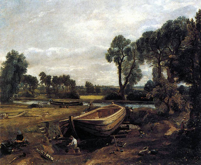 John Constable Boat Building Near Flatford Mill