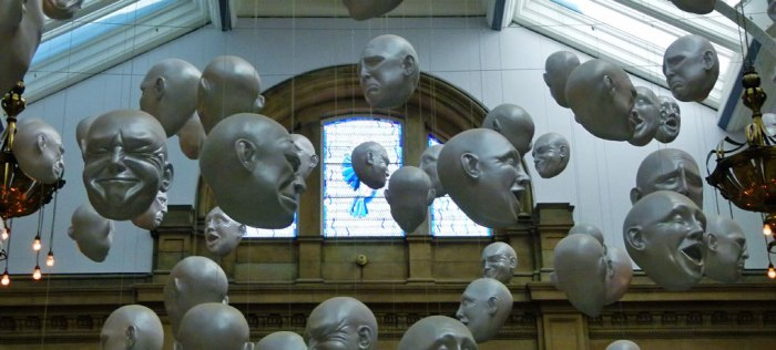 Heads by Sophie Cave at Kelvingrove