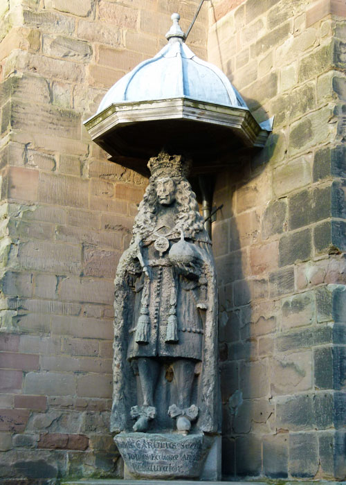 Statue of King Charles II at Lichfield Cathedral