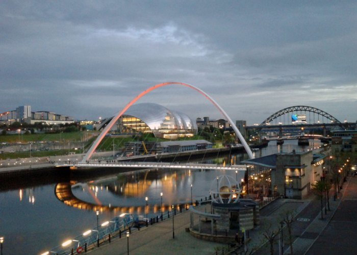 Tyne shot at dusk - not very clear, but you get the idea.
