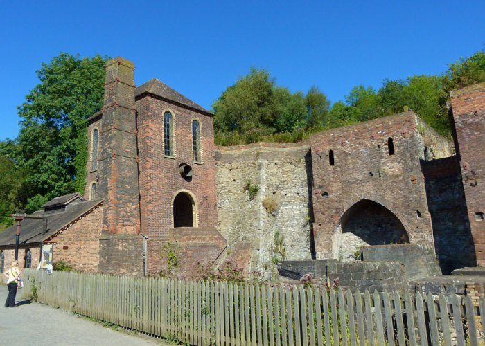 Blists Hill, Victorian, ruins, blowing engine, blast furnace