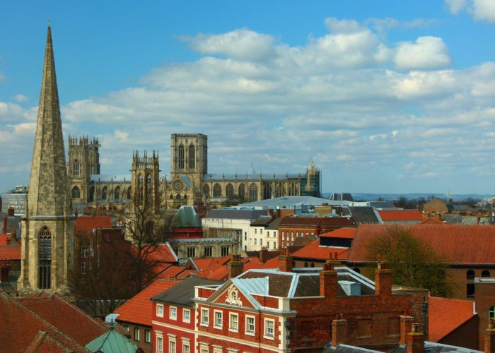 Clifford's Tower, views, York Minster
