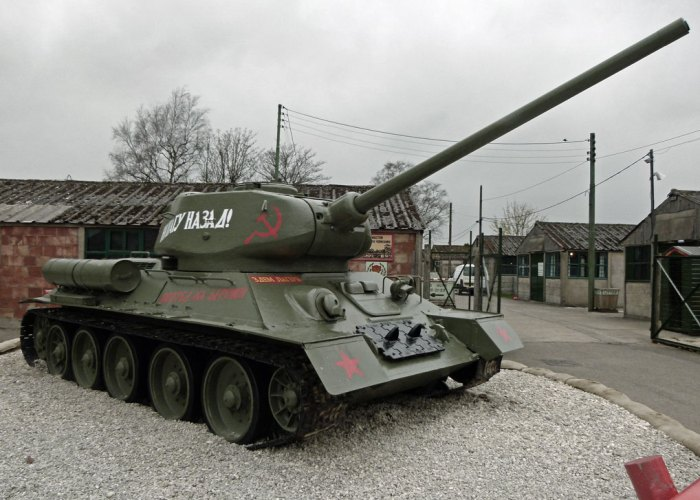 T34 Russian (soviet) tank, Eden Camp