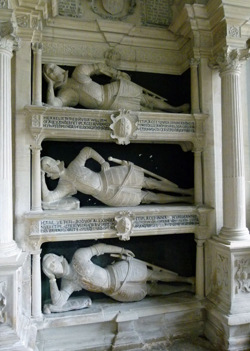 Fettiplace, memorials, Swinbrook, Oxfordshire churches