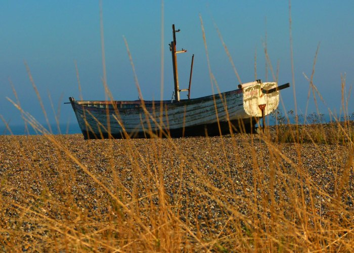 Aldeburgh Beach - fisherman's art