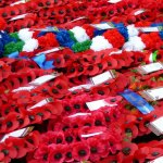 Poppy wreaths, Cenotaph