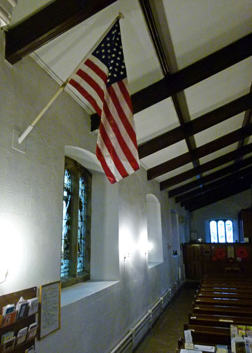 Stars & Stripes, St Oswald's, Church, Warton, Lancashire