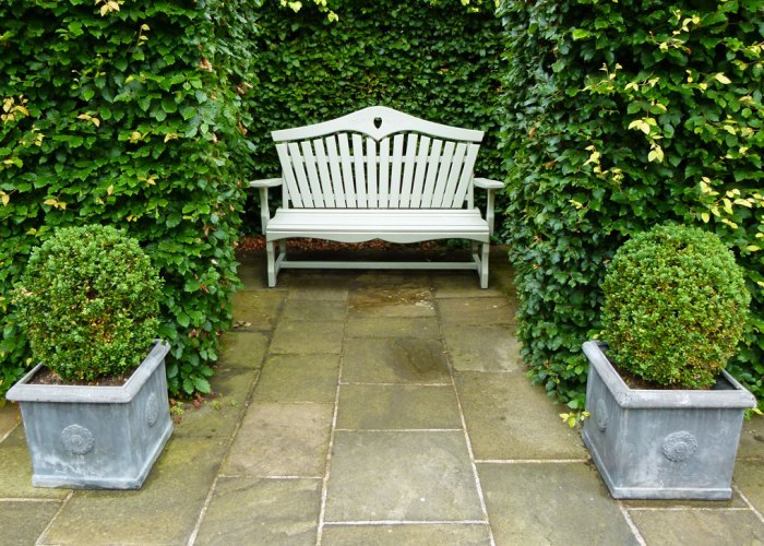 Washington Old Hall, garden bench