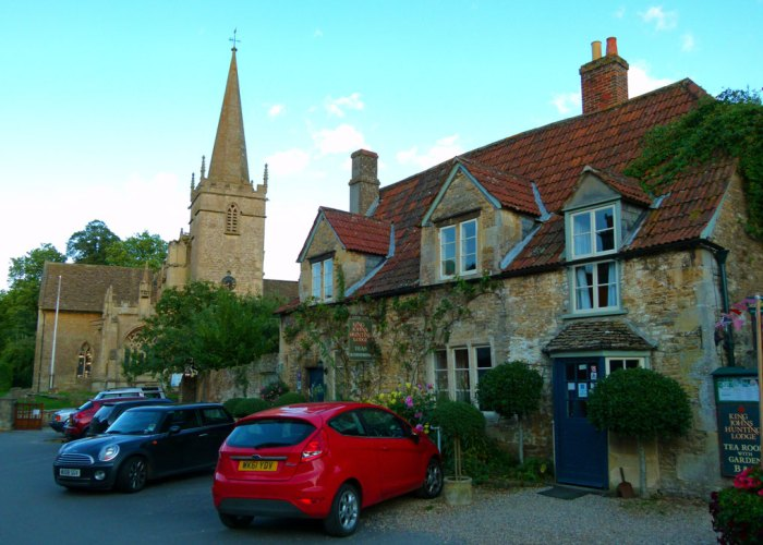 Lacock, St Cyriac's church and King John's Hunting Lodge