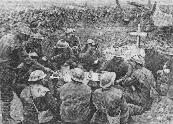 Christmas Truce, Christmas at the front, Brodie helmet