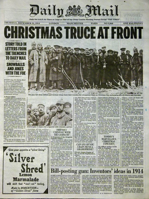 Christmas Truce Of 1914.The Christmas Truce Of 1914 A Bit About Britain