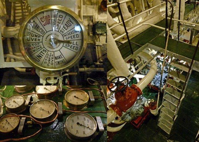 HMS Belfast, interior, chadburn