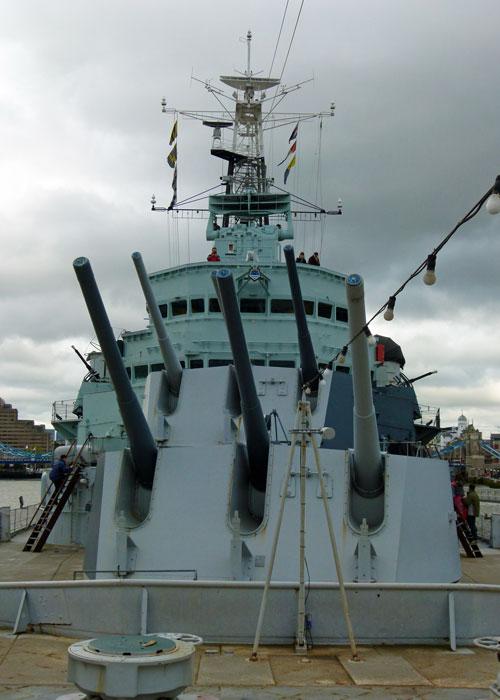 HMS Belfast, guns