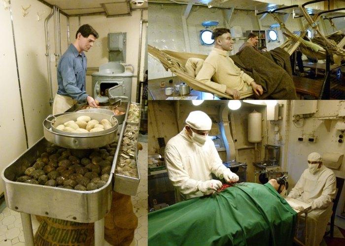 HMS Belfast, below decks