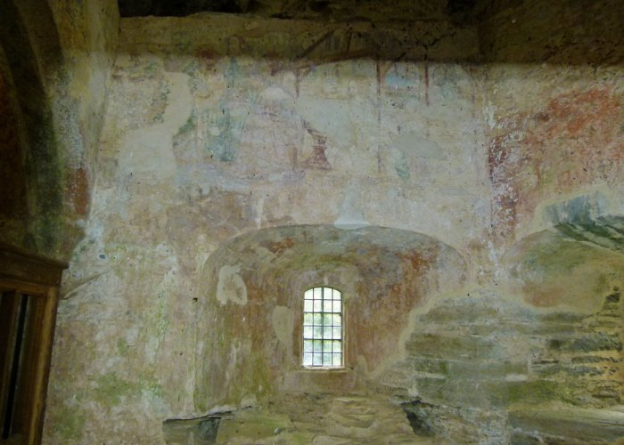 Berry Pomeroy, castle, 15th cent, wall painting