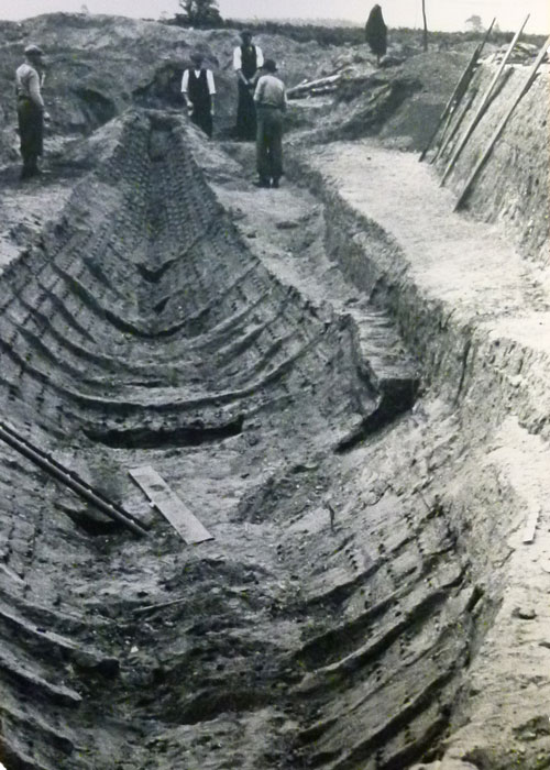 Basil Brown, Sutton Hoo, ship burial