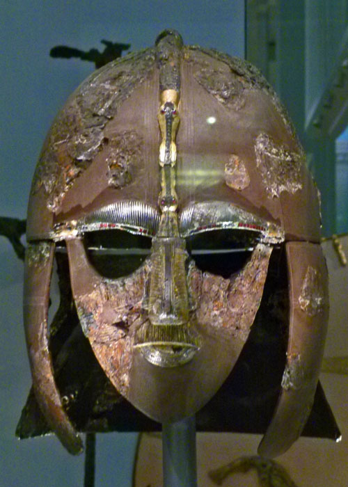 Sutton Hoo, helmet, British Museum