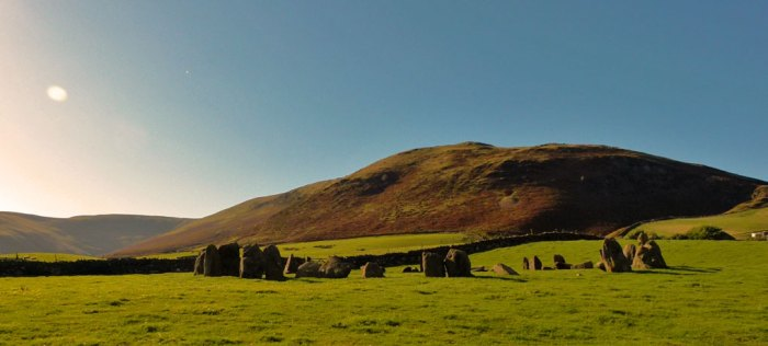 Swinside Stone Circle, Cumbria, looking west