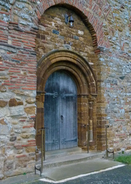 All Saints' Brixworth, Northamptonshire - Norman doorway in a Saxon one