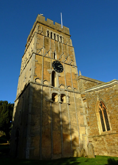 Saxon tower, Earls Barton, Northamptonshire