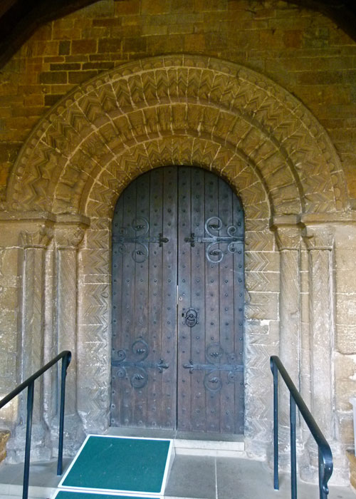 Norman doorway, Earls Barton, Northamptonshire