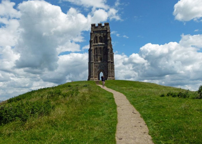 St Michael's, church, Glastonbury Tor, Somerset, legend, south west