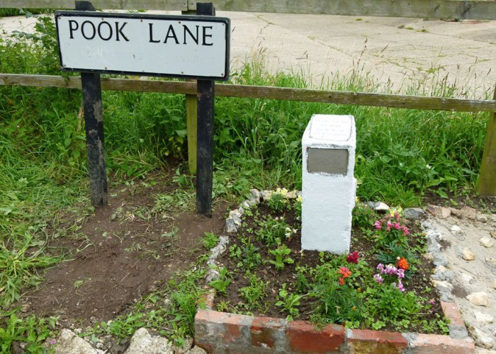 Tillet, memorial, Pook Lane, Fareham, Hampshire
