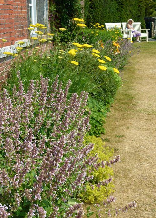 Uppark, West Sussex, garden border