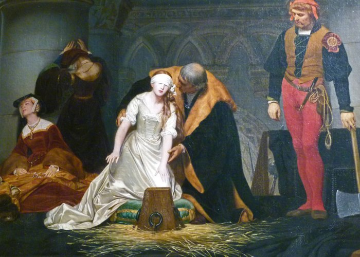 Guildhall Art Gallery, The Execution of Lady Jane Grey, Paul Delaroche.