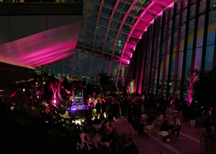 Sky Garden, Skypod, at night
