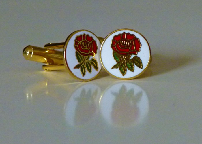 English rose George cufflinks - nice aren't they?