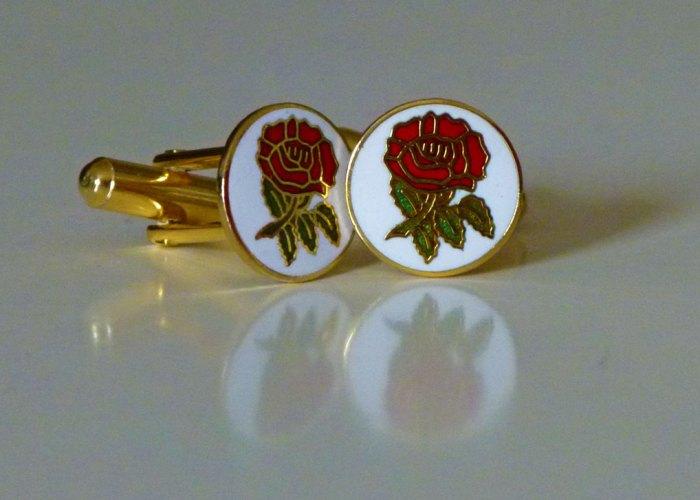 English rose George cufflinks - nice aren't they?
