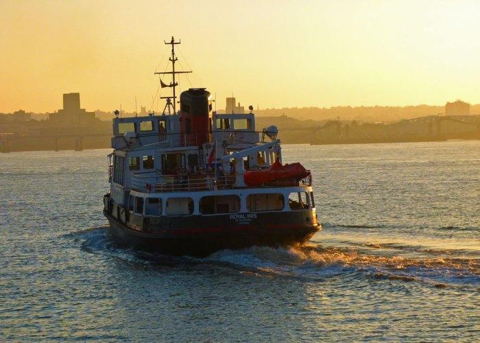 Ferry cross the Mersey, MV Royal Iris, Pier Head, Liverpool, Birkenhead