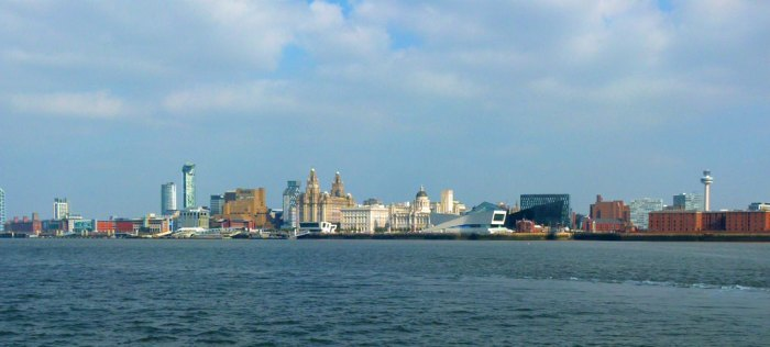 Liverpool skyline, the Three Graces, Royal Liver Building, the Cunard Building, Port of Liverpool Building