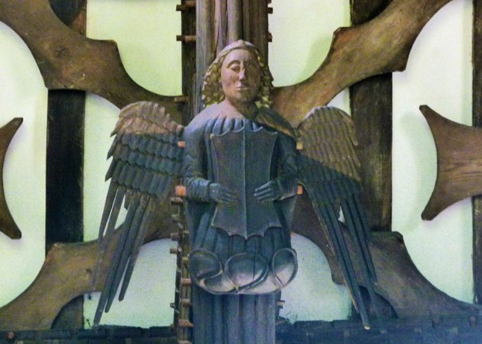 Rufford Old Hall, carved angel