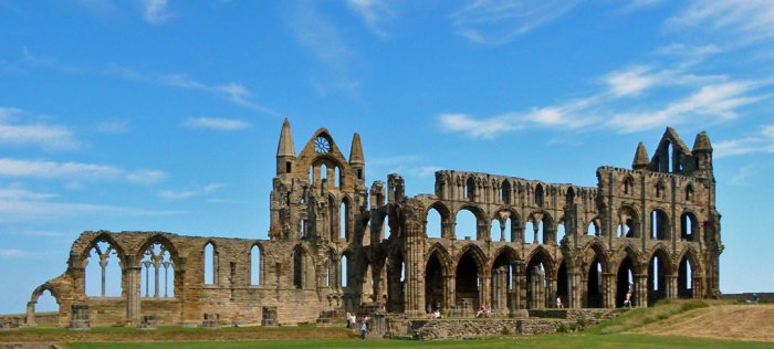 Whitby Abbey, the ruins of the abbey church