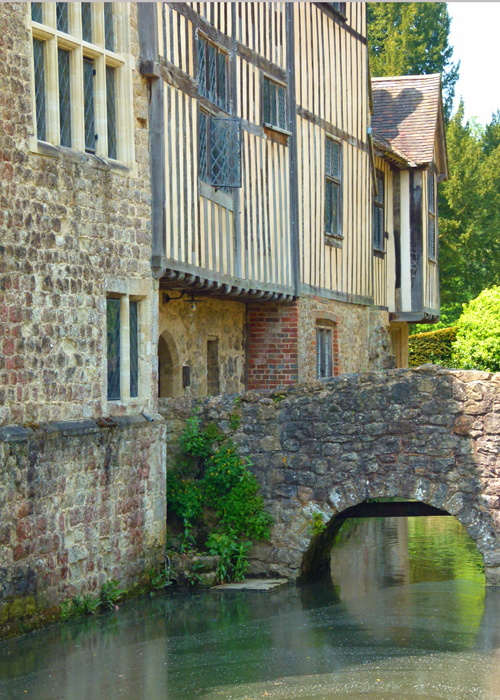 Ightham Mote, Kent, footbridge