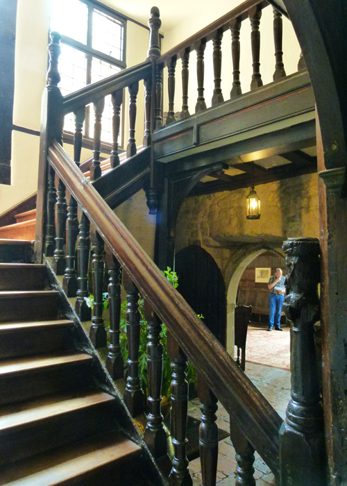 Ightham Mote, Kent, staircase