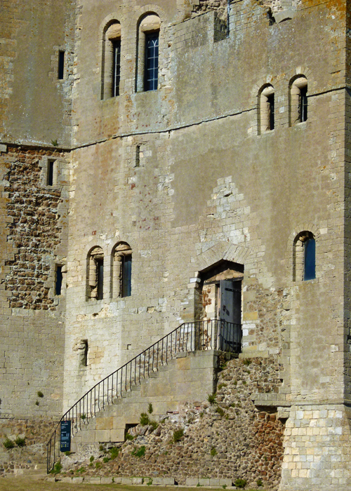 Orford Castle, stairs, keep