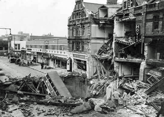 Balham High Road, bombed, 1940, WW2