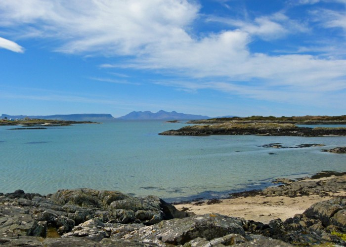 Eigg and Rum, Sands of Morar, Road to the Isles