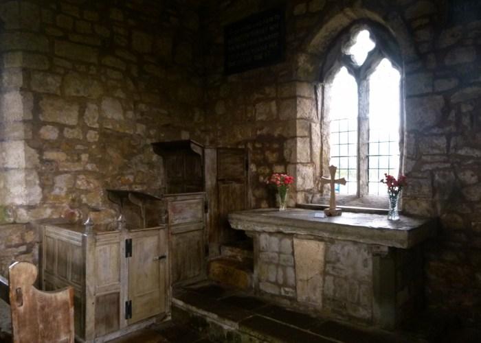 Lead Chapel, altar, pulpit, ramblers church