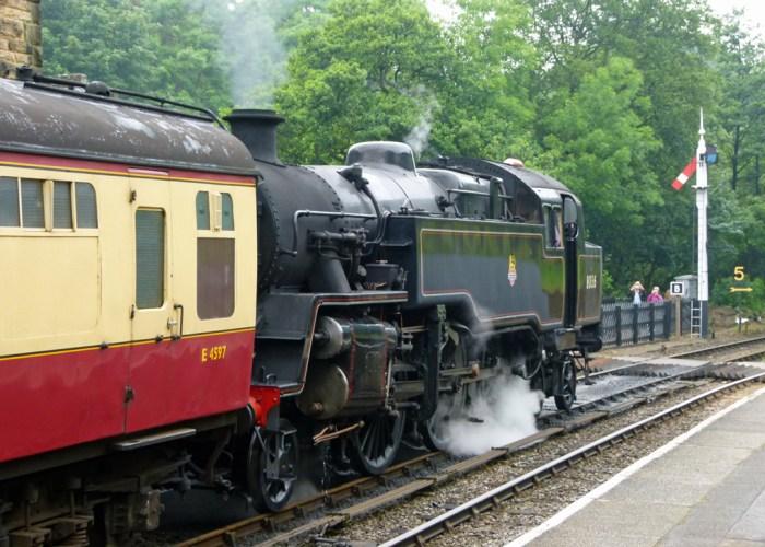 Locomotive, train, Goathland, North Yorks, Moors