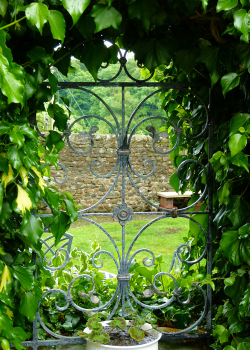 Open gardens, garden window, Burton in Lonsdale, Britain