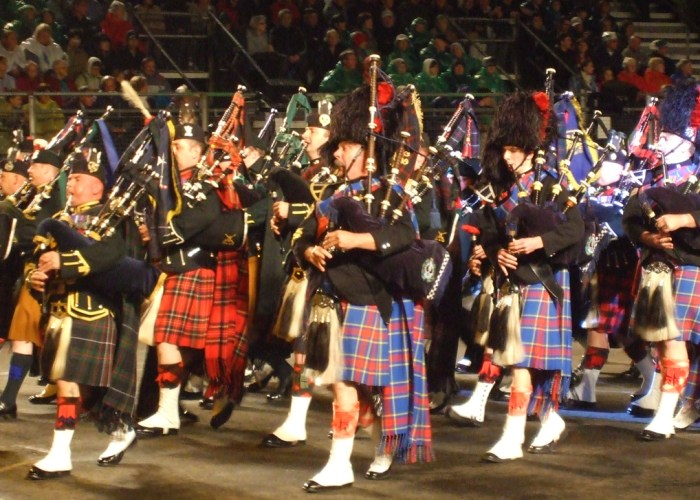 Massed pipes and drums, Royal Edinburgh Military Tattoo