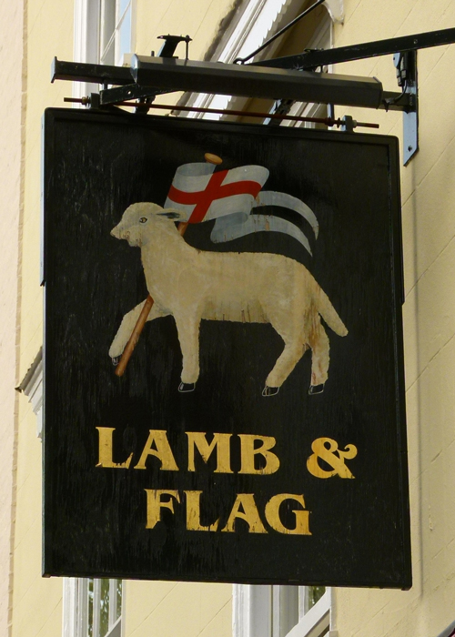 Lamb and Flag, St John the Baptist, Merchant Taylors Company, St John's College, Oxford