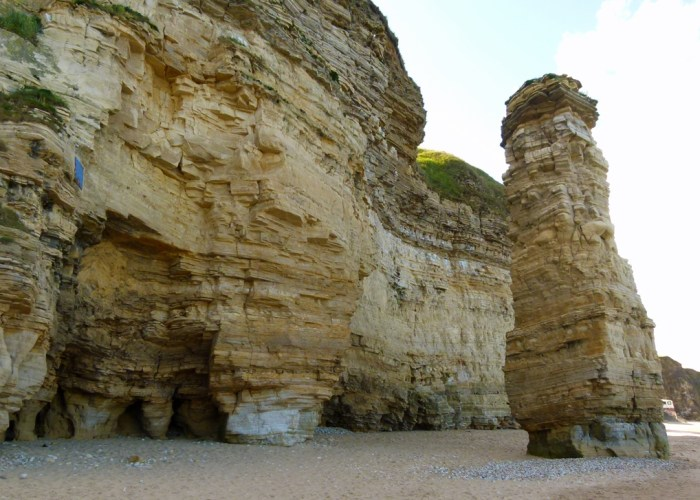 Lot's Wife, limestone stack, Marsden Bay, Tyne & Wear