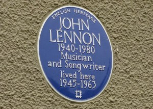 Lennon, musician, songwriter, blue plaque, Mendips