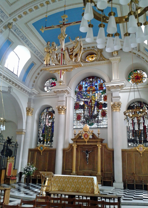 St Mary le Bow, interior, cockney
