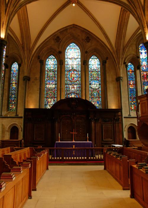 Temple Church, Carl Edwards, Christopher Wren, east window, London
